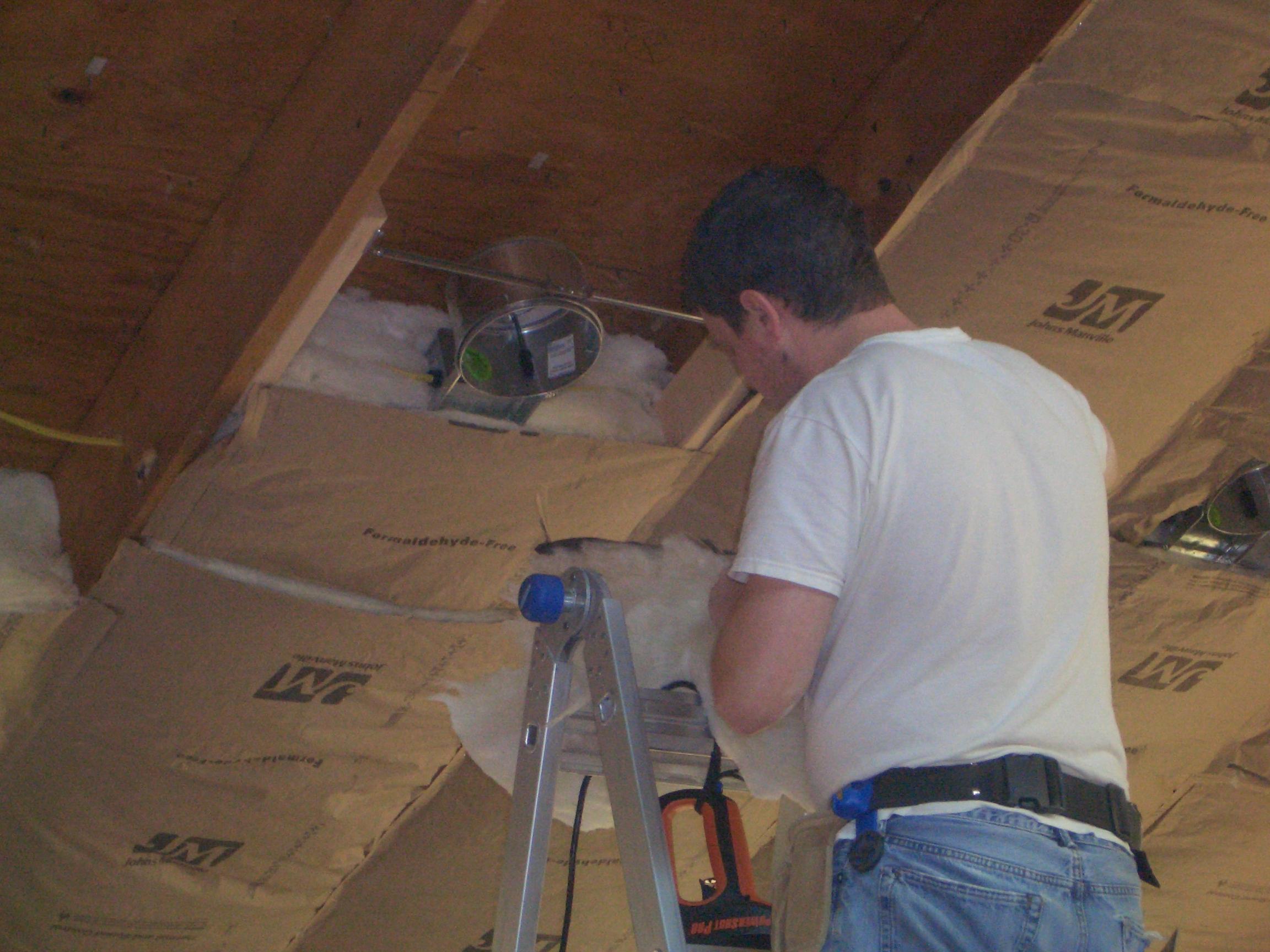 Isoleren plat dak binnenzijde